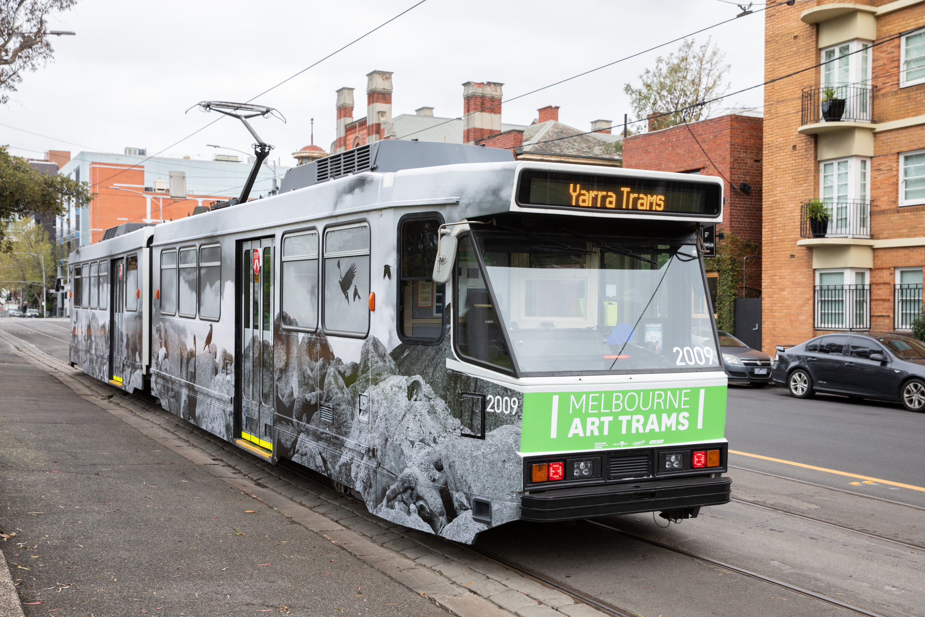 This is the first of 8 art trams to hit the tracks throughout October, Credit: Supplied.