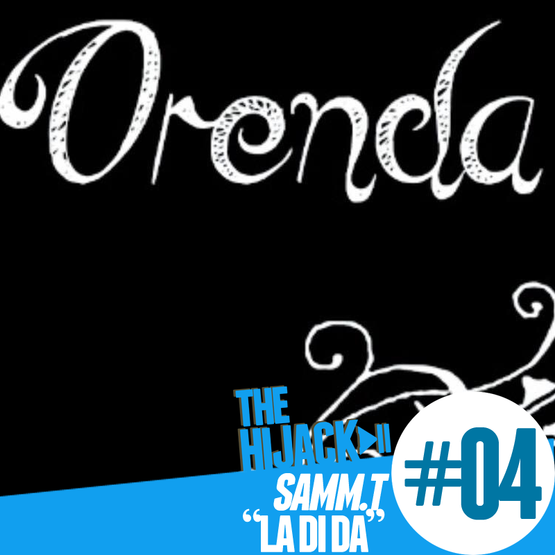 The word 'Orenda' in white on a black background