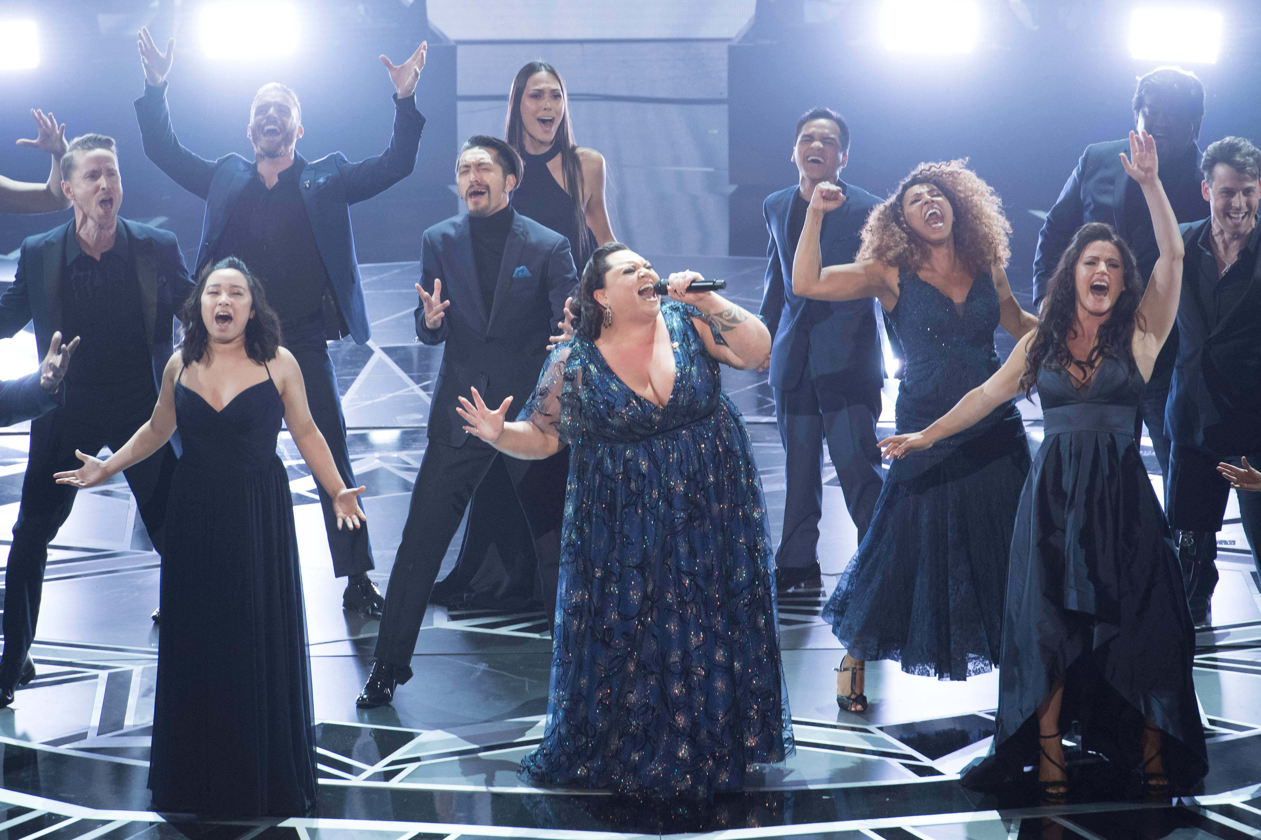 "Keala Settle performs ""This Is Me"" from The Greatest Showman at the Oscars in 2018, Credit: Supplied."