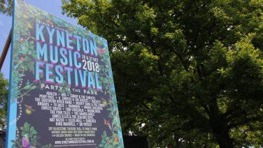 Billboard promoting the 2018 Kyneton Music Festival
