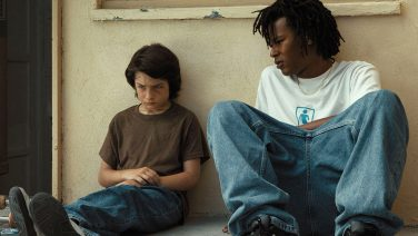 "Sunny Suljic with Na-Kel Smith in the film ""Mid90s"""