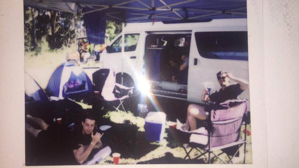 Some Friends and I at our campsite. Photo taken by me, Matthew Toohey.