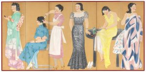 The first subway in the East. 1927. Hisui Sugiura. Colour Lithograph. Source: National Gallery of Victoria