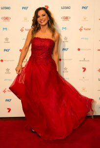Susie McLean pictured on the red carpet at the Red Ball, Cr  edit: Fiona Hamilton.