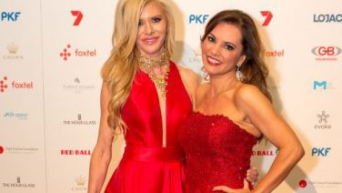 Gamble Breaux and Susie McLean at Red Ball, Credit: Fiona Hamilton