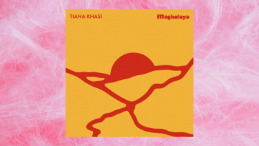Tiana Khasi's 'Meghalaya' cover art on fairy floss background
