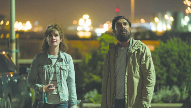 "Lily James and Himesh Patel in ""Yesterday"""