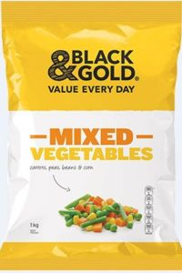 Black & Gold's 1kg packs of frozen mixed vegies have been recalled, Credit: Supplied.