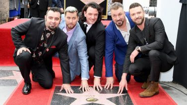 NSYNC get a star on the Hollywood Walk of Fame, Source: Billboard.
