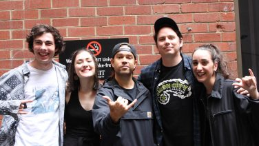 James and Luke, from Violent Soho with Ed, Claire + Becs from The Hoist on SYN 90.7fm