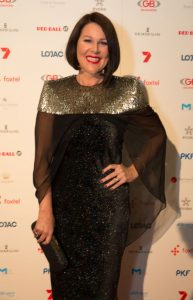 Julia Morris pictured on the red carpet at the Red Ball, Cr  edit: Fiona Hamilton.