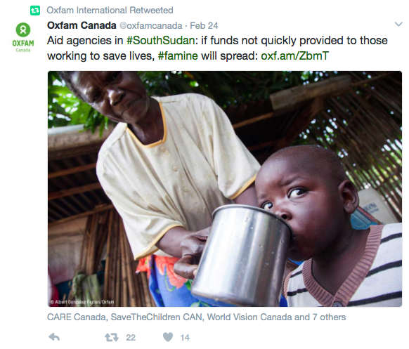 Source: Oxfam Twitter page