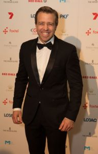 Simon Gleeson pictured on the red carpet at the Red Ball, Credit: Fiona Hamilton.