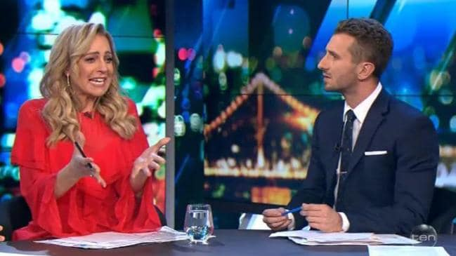 Carrie Bickmore gets emotional after segment with 12-year-old Tourette's sufferer Cameron Schubert, Credit: The Project, Network Ten.