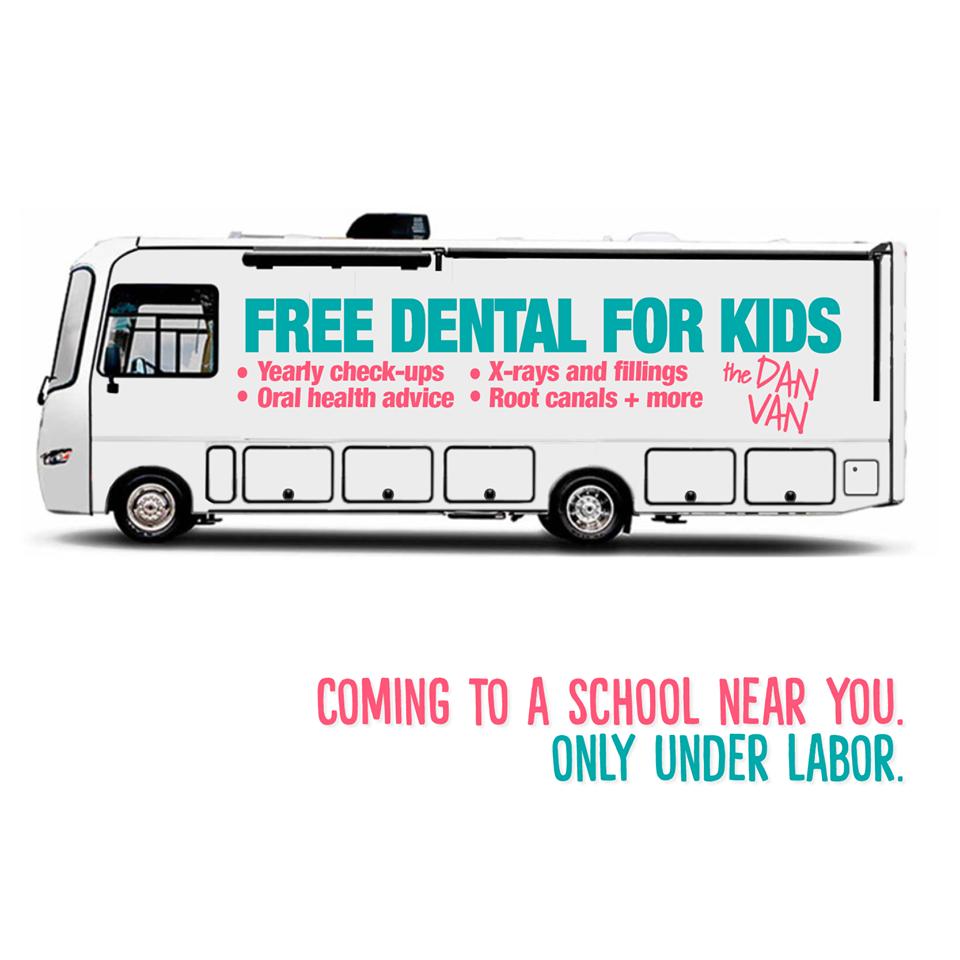 Daniel Andrews has pledged $395 million for a school dental van program, Credit: Daniel Andrews, Facebook.