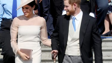 Prince Harry and Meghan Markle attend garden party at Buckingham Palace, Credit: Chris Jackson, Getty via Zimbio. (NOTE: Not to be used for commercial purposes.