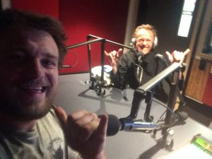 me and dad in studio