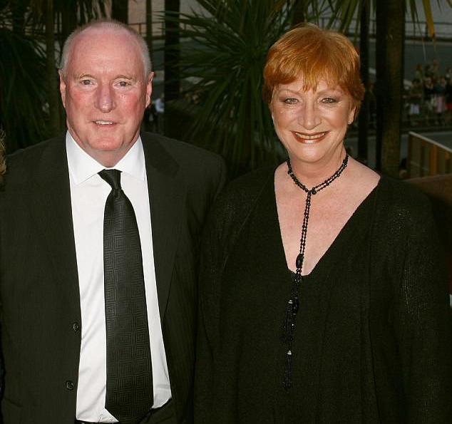 Ray Meagher pictured with Cornelia Frances, Credit: Getty via Mail Online.