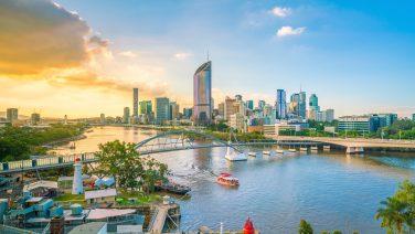 Brisbane,City,Skyline,And,Brisbane,River,At,Twilight,In,Australia