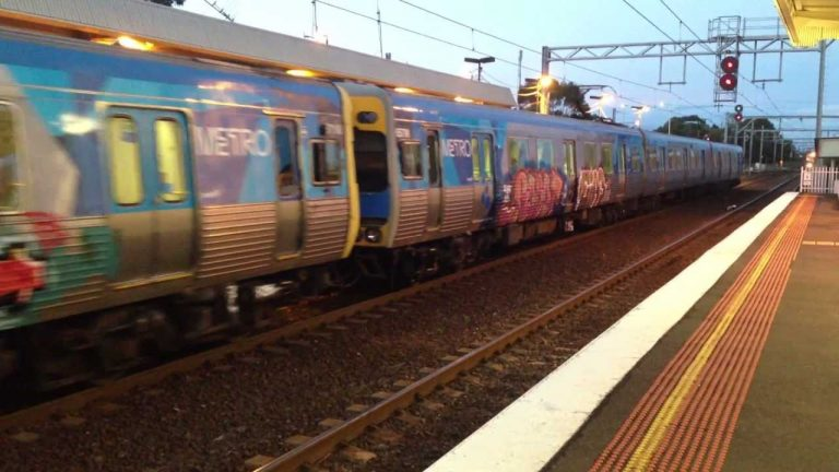 Werribee station is said to be a common target for graffiti vandals, Credit: YouTube.